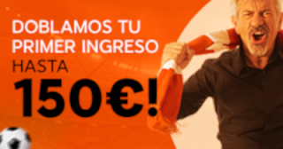 888Sport bienvenida dobla tu deposito hasta 150€