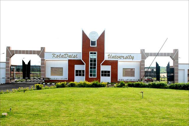 KolaDaisi University Post UTME Admission Form 2018