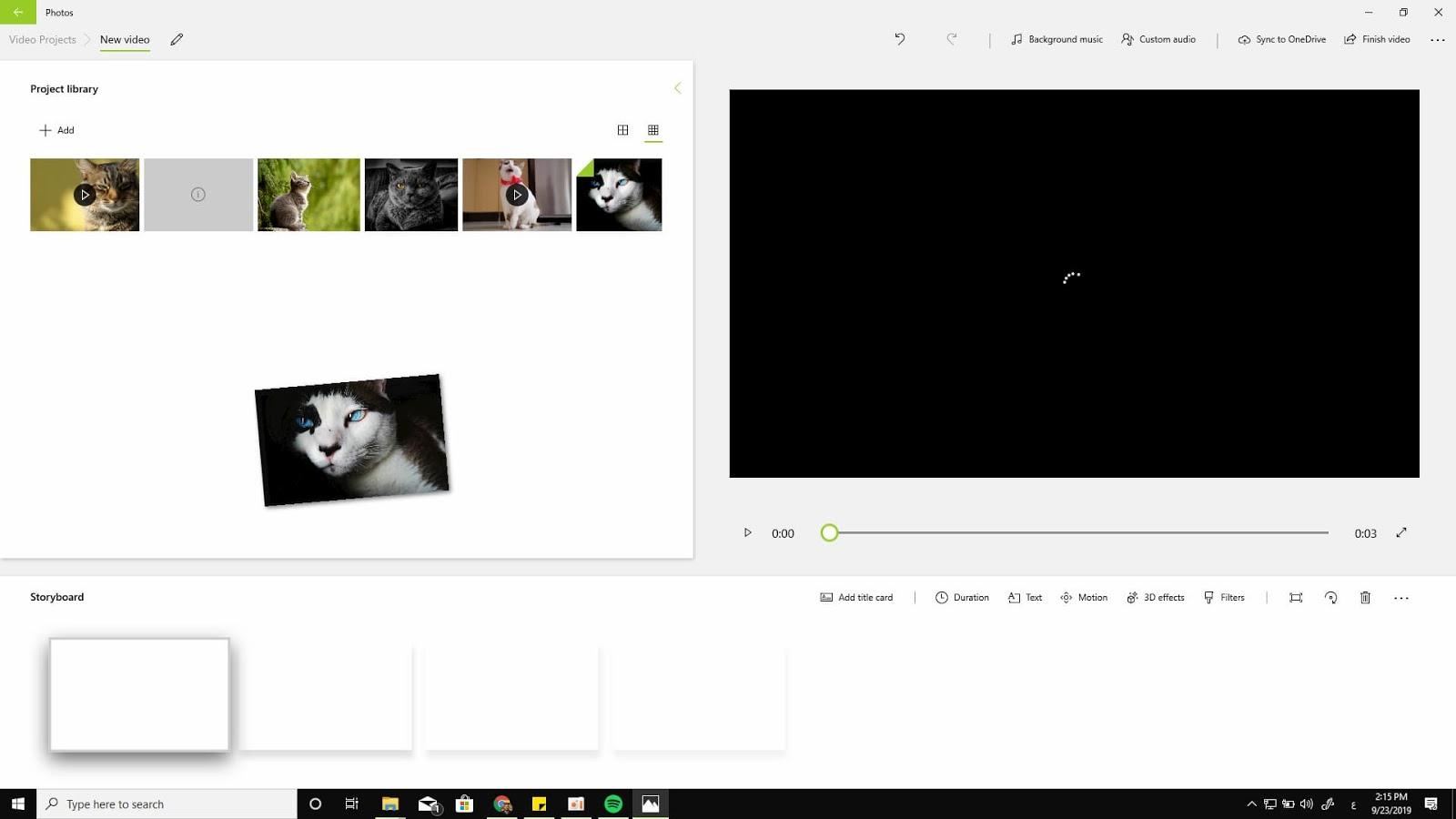 انشاء فيديو من الصور على ويندوز 10 بدون برامج