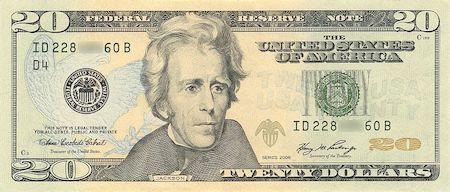 Amerika Birleşik Devletleri parası 20 Dolar