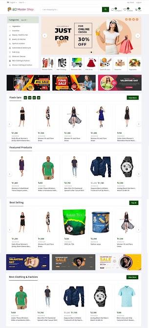 E-Commerce CMS  template BD Master Shop