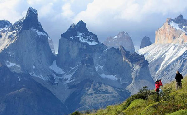 A view of Torres del Paine National Park, Chile.