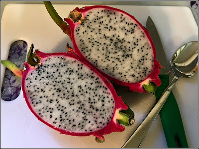 September 12, 2018 Enjoying dragon fruit for the first time