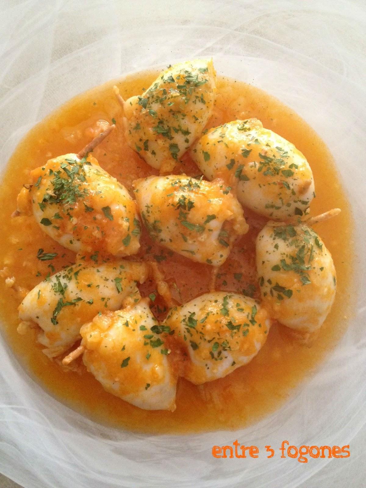 Deliciosas recetas de calamares huele bien - Salsa para calamares rellenos ...