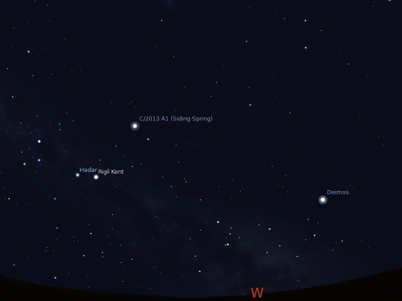 Astroblog: Earth as seen from Mars on 19 October 2014 ...