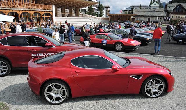 estfahrfahrzeuge von Alfa Romeo bei der Passione Engadina 2017, Stelvio