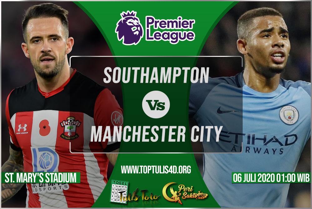 Prediksi Southampton vs Manchester City 06 Juli 2020