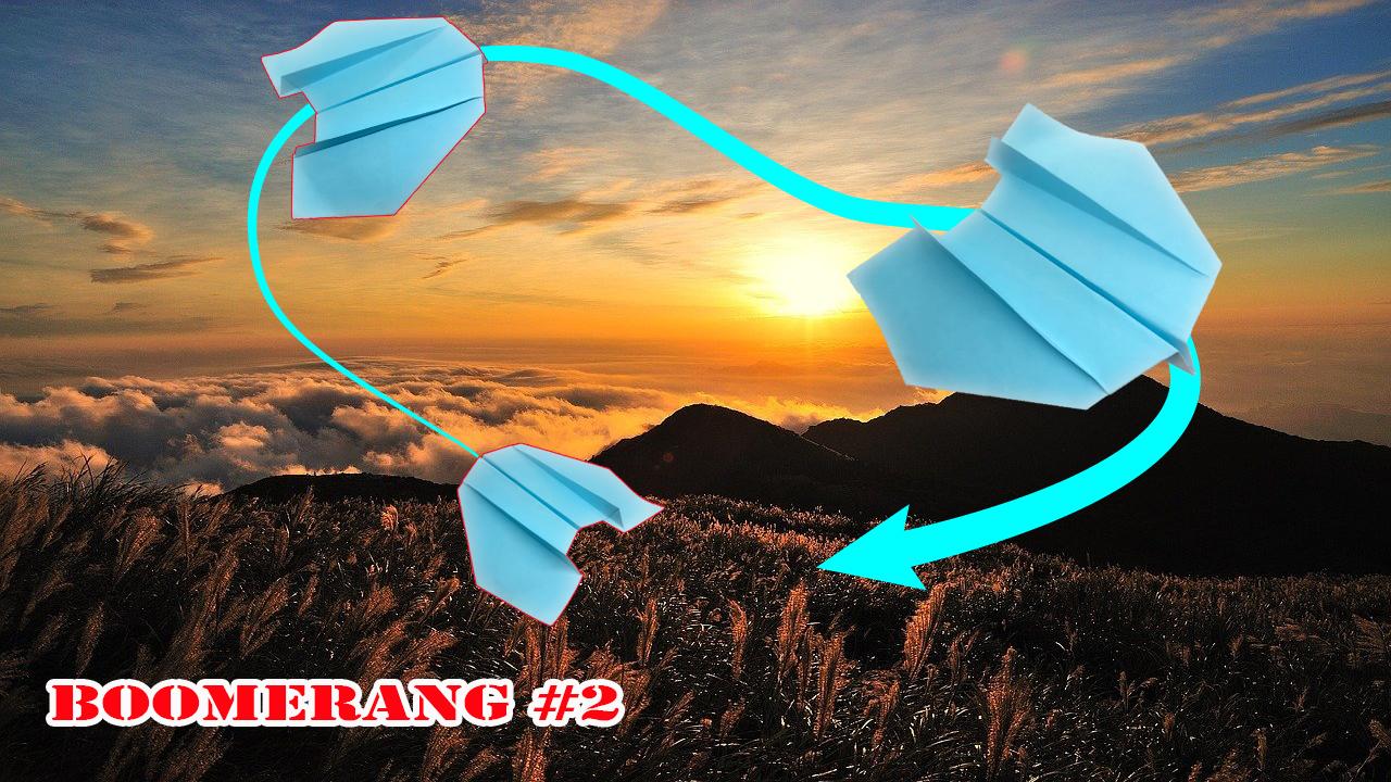 Cách gấp xếp máy bay boomerang bằng giấy Verision 2 - Máy bay quay lại