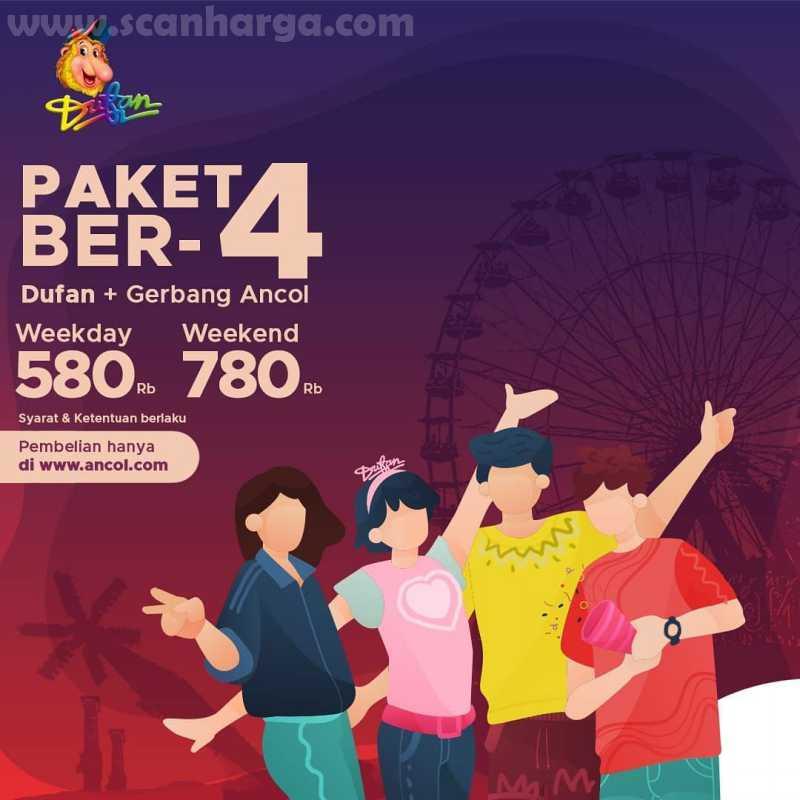 Promo Ancol PAKET BER-4 + Pintu Gerbang Ancol harga mulai Rp 200 Ribuan! 1