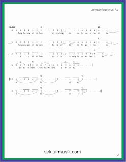 not angka alusi au hal 2 lagu daerah sumatera utara