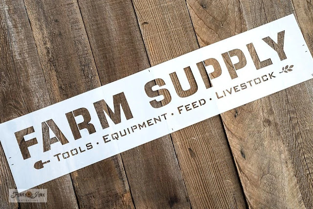 Stencil a Rustic Farm Supply Sign