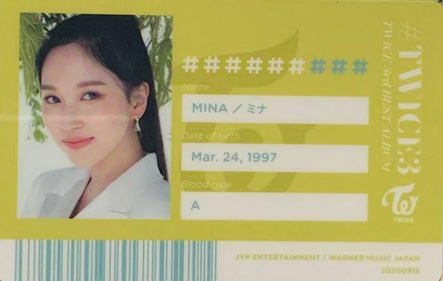 TWICE 3 Mina ID