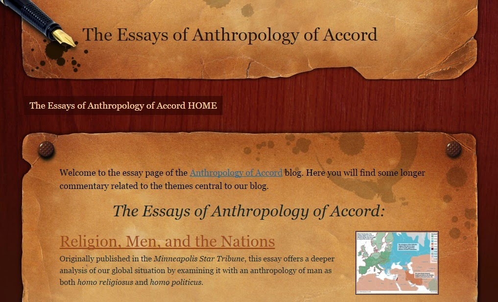 The Essays of Anthropology of Accord