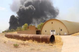 Tempat Penyimpanan Amunisi Milisi Syiah Iraq Terbakar