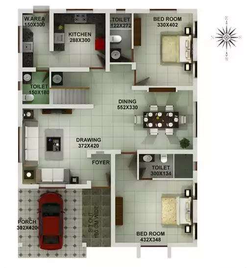 Double Floor Home Design