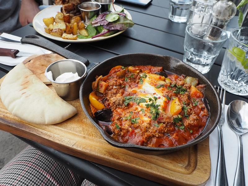 Lamb shakshuka at Toast, Leith