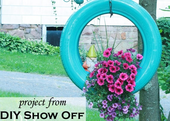 Use your old tires to make these whimsical planters
