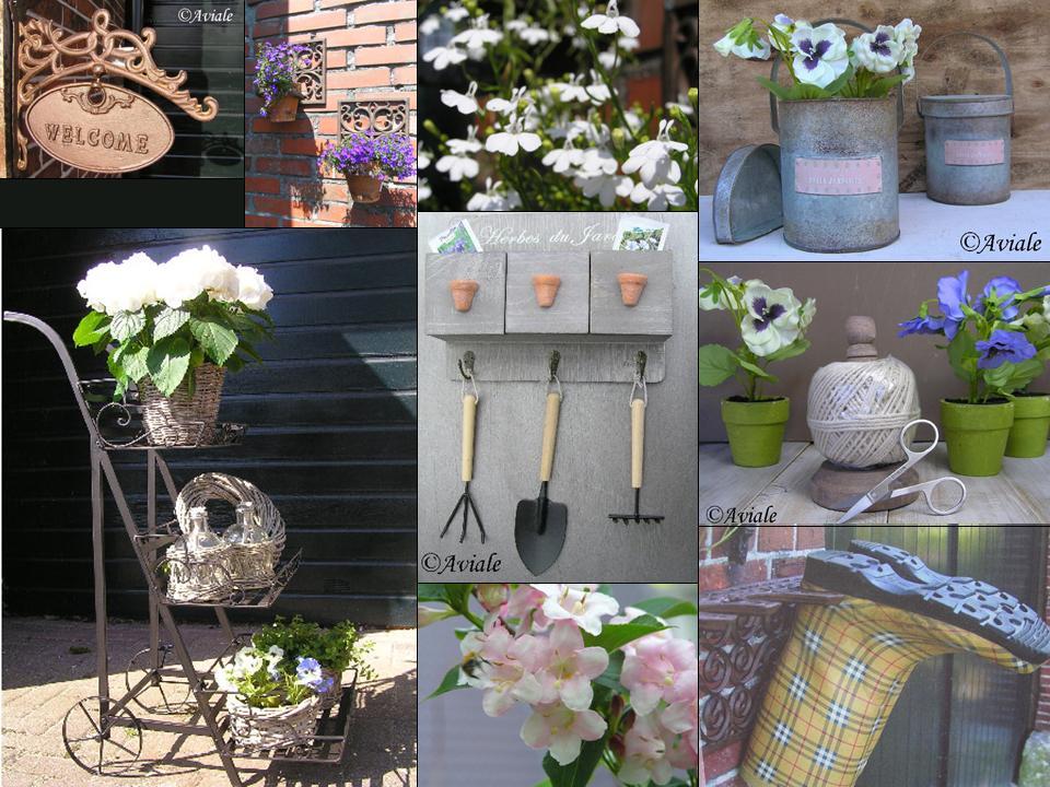 Aviale landelijke woonaccessoires online maak je tuin zomerproof met sfeervolle tuindecoraties for Terras decoratie