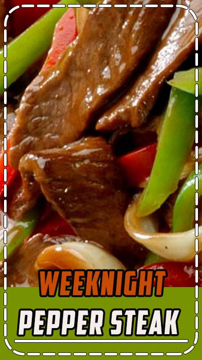 Transport your taste buds to the Orient with this quick-cooking #steak and bell peppers in a flavorful ginger sauce. ❊