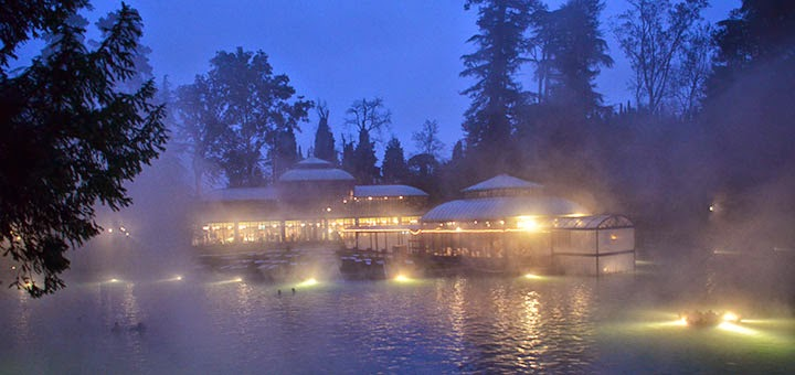 Parco Termale dei Cedri, lago e serra d'inverno