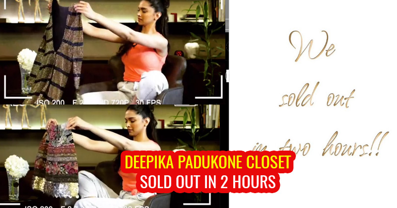 Deepika Padukone's closet sold out in 2 hours to raise ...
