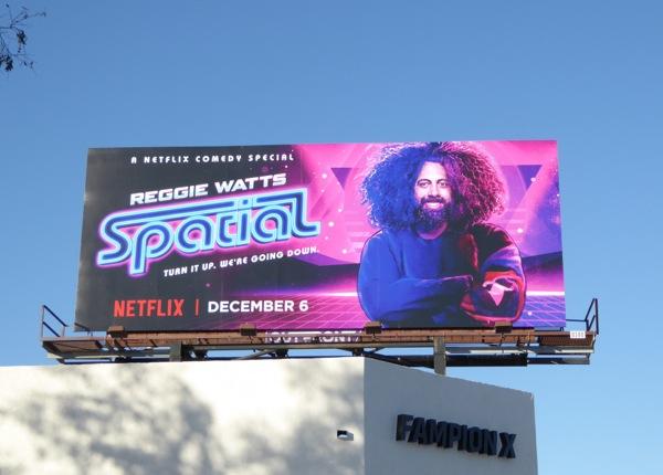 Reggie Watts Spatial Netflix standup billboard