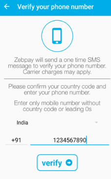 zebpay mobile verification