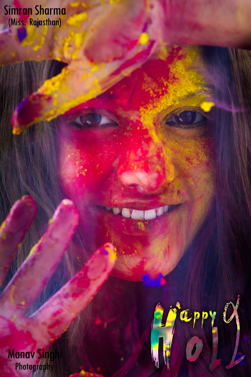 Happy Holi Campaign Shoot with Simran Sharma Miss Rajasthan.