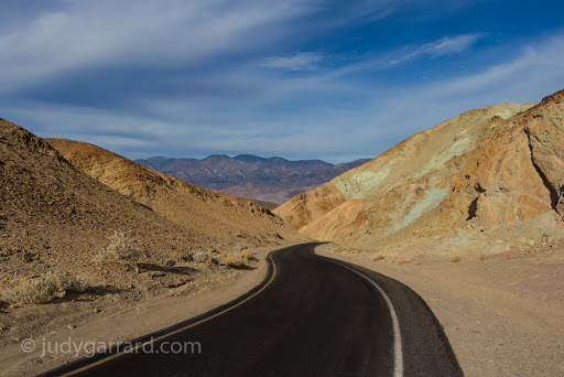 Artist's Drive in Death Valley, CA