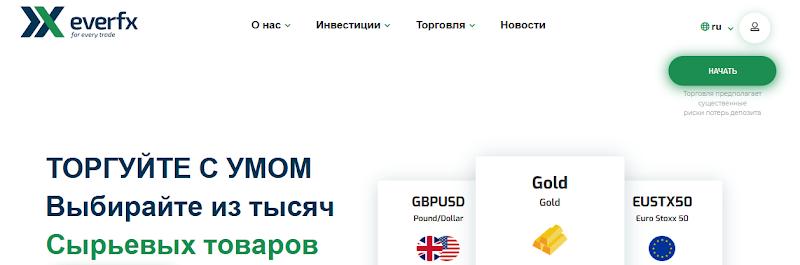 Мошеннический сайт everfx.com/ru – Отзывы, развод. Компания EverFX мошенники