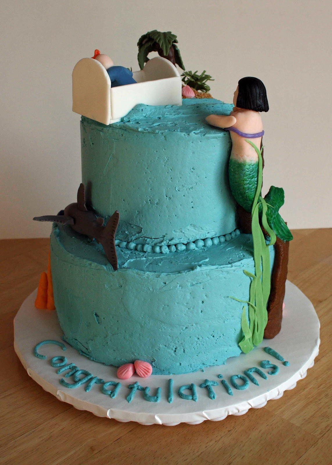 All Kinds Of Sugar Under The Sea Baby Shower Cake