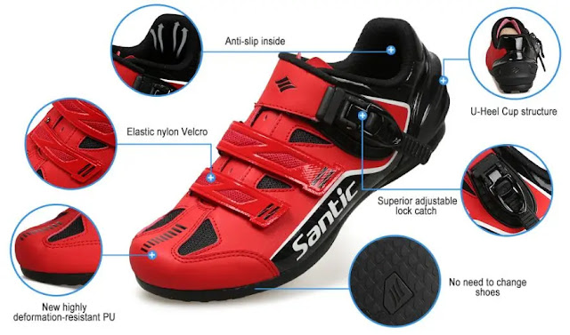 What are the types of indoor cycling shoes?