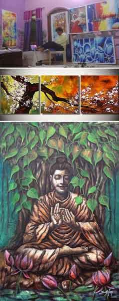 Uttam Kumar Bhardwaj Bisa Disebut Spesial. Dia Menciptakan Lukisan Menakjubkan hanya dengan Kakinya.