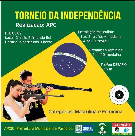 A Associação Parnaibana de Canoagem realizará o torne da independência de tiro esportivo