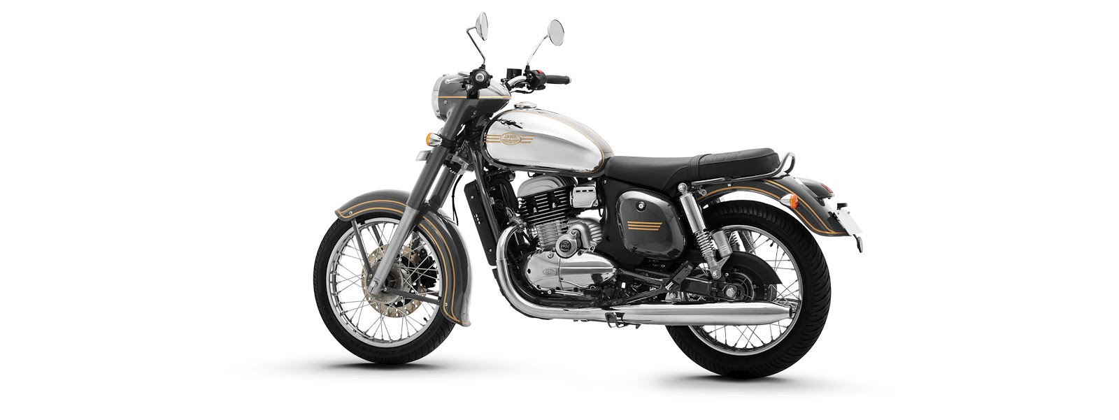 Jawa motorcycle is available in three colors,Jawa Grey
