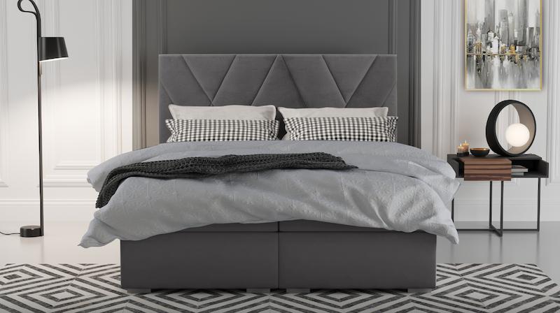 Dormitorio moderno con cama continental