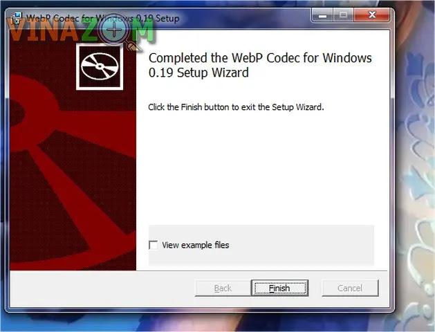 cài đặt WebpCodecSetup bước 5