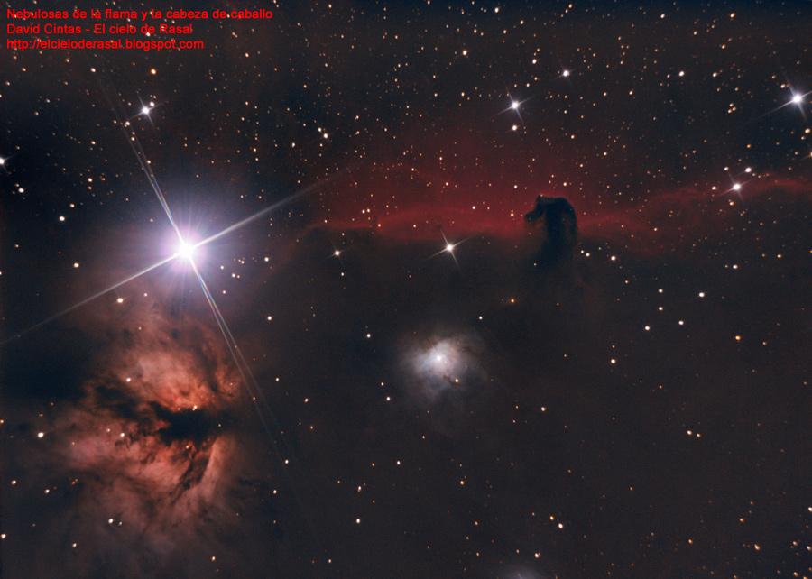 Nebulosa cabeza de caballo flama - El cielo de Rasal