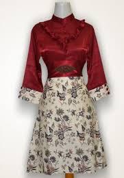 Dress Baju Batik Guru Wanita Muslim