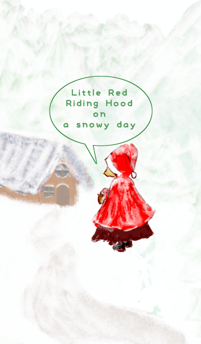 Little Red Riding Hood on a snowy day