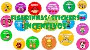 FIGURINHAS/ STICKERS COM INCENTIVOS PARA DOWNLOAD - Livros, músicas e filmes para envio aos alunos