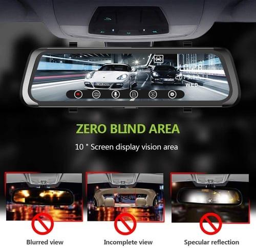 j Junsun A910 Touch Screen 10 inch Mirror Dash Cam