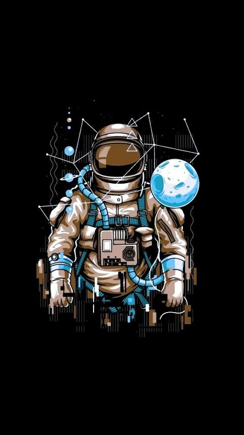 Astronot Telefon Duvar Kağıtları
