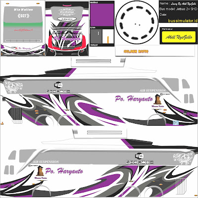 shd livery haryanto ungu