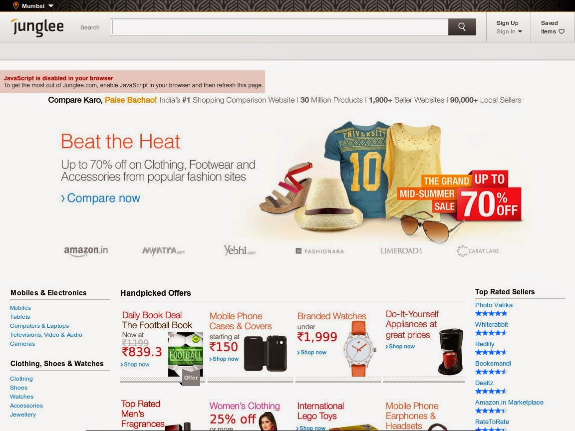 Indian online shopping sites