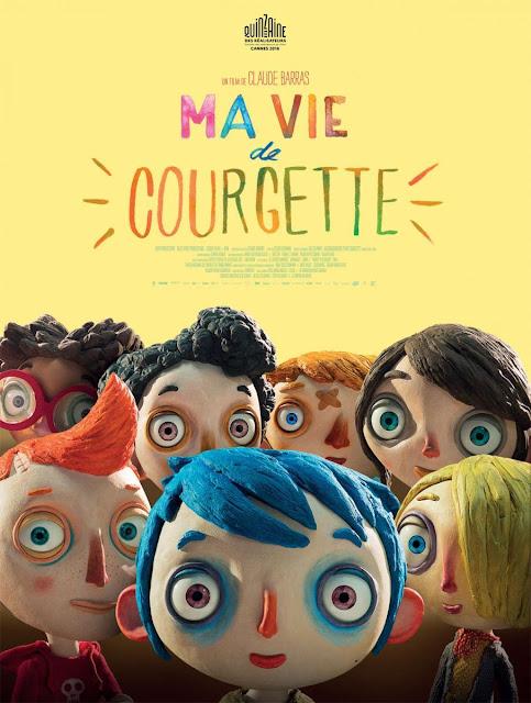 Cartel en francés de la película La vida de Calabacín, Ma vie de Courgette
