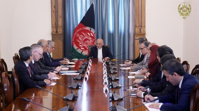Afghan President Ashraf Ghani met US special envoy for Afghanistan Zalmay Khalilzad in Kabul