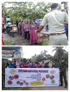STIP-GK Bersama Para Alumni Muara Bulian Berbagi Sayuran Segar, Ini Harap Ketua STIP-Graha Karya!!