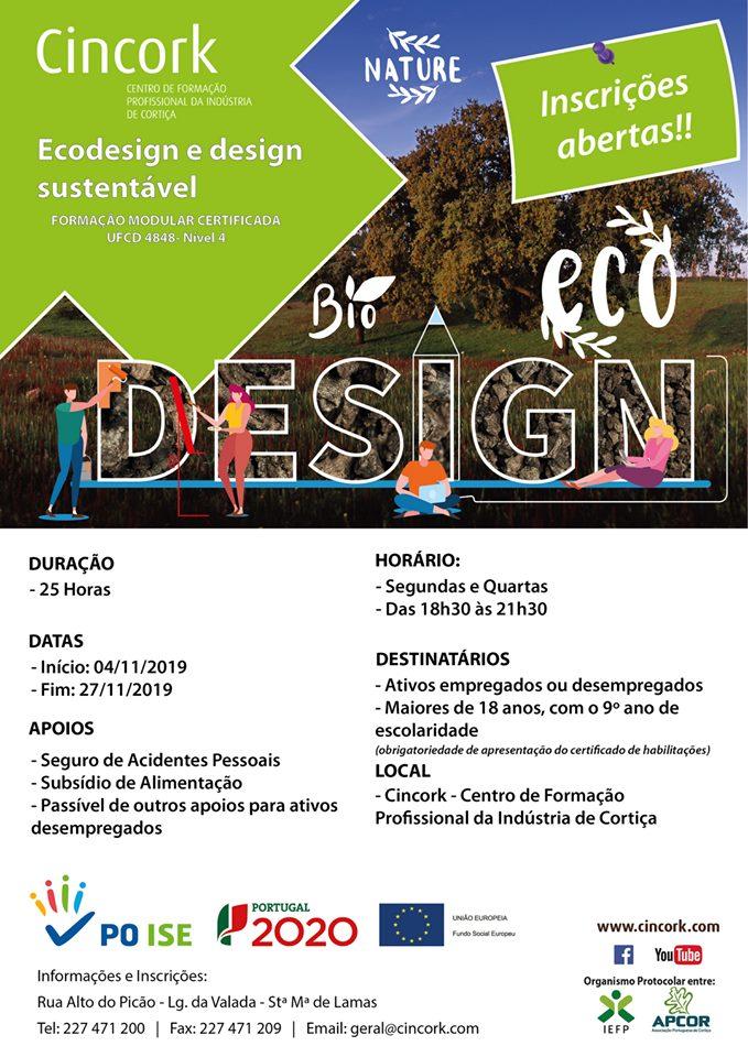 Curso financiado de Ecodesign e design sustentável em Sta. Maria de Lamas