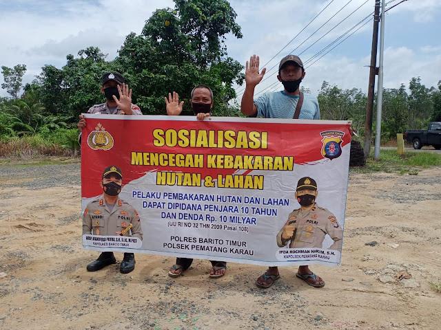 Briptu yunus Sosialisasikan pencegahan dan sanksi karhutla ke warga masyarakat